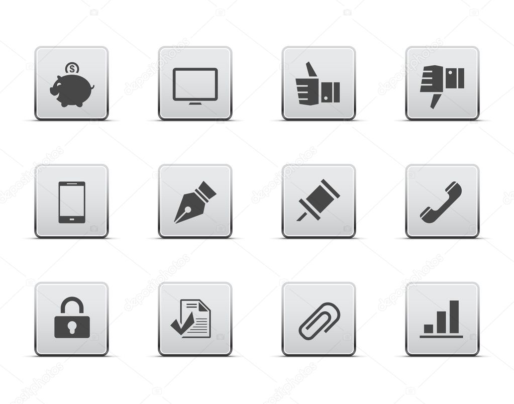 Office icon set — Stock Vector #9416664