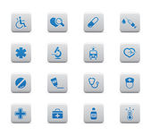 Medical and healt hcare icons — Stok Vektör