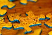 Puzzle closeup — Stock Photo