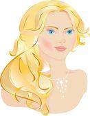 Güzel Bayan — Stok Vektör
