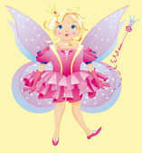 The beautiful fairy — Vector de stock