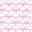 The background made from hearts. Vetor - Stock Vector