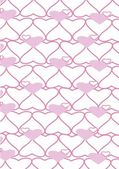 The background made from hearts. Veсtor — Stock vektor