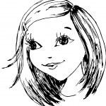 la niña ha dibujado en un vector — Vector de stock