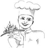 该名男子是一名厨师 — 图库照片