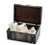 Money in a box — Stock Photo
