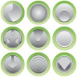 Button set — Vettoriali Stock