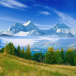Great mountains in a mist — Stock Photo #10171024