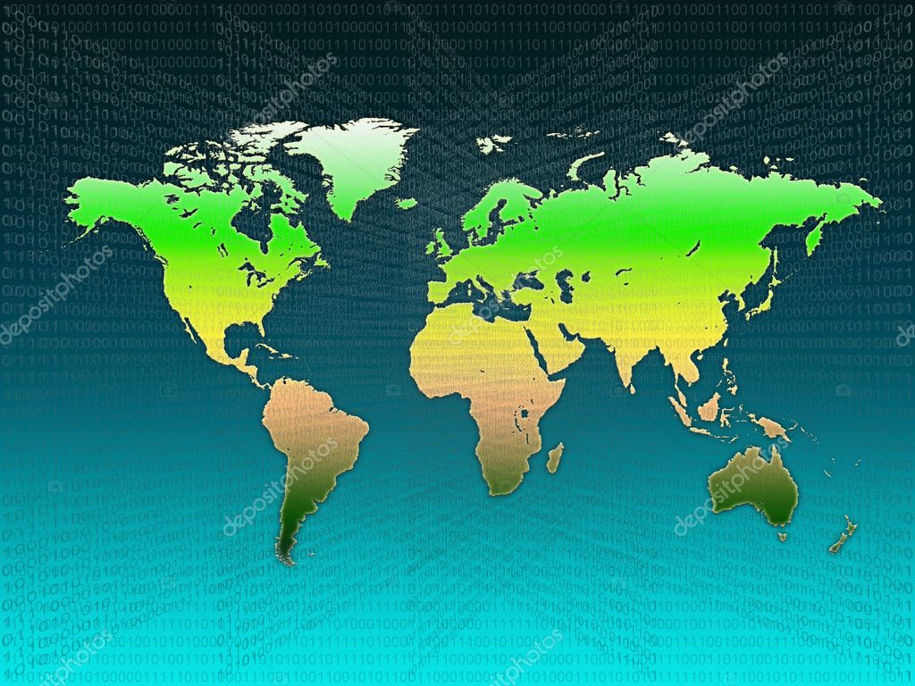Stylized world map — Stock Photo #10199566