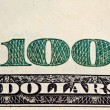 Closeup hundred dollar banknote — Stock Photo