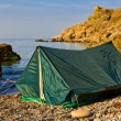 Stock Photo: Touristic tent on secoast