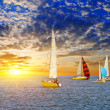 Stock Photo: Sail yacht regatta