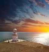 Lighthouse at the evening — Stock Photo