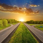 Evening road — Stock Photo