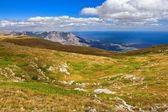Mountain pasture landscape — Stock Photo