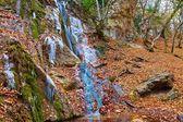 High water cascade in a autumn canyon — Stock Photo