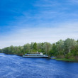 Stock Photo: Pleasure boat on river