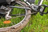 Bicycle in a dirt — Stock Photo