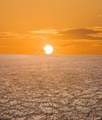 Pale sunset in a desert — Stock Photo
