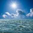 Endless sea under a sparkle sun — Stock Photo