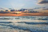 Sunset on a sea — Stock Photo