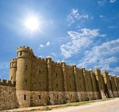 Beautiful medieval castle under a sparkle sun — Stock Photo