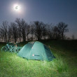 Touristic camp at the night — Stock Photo