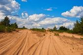 Hot sand desert — Stock Photo