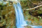 Beautiful blue water cascade — Stock Photo
