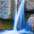Closeup blue waterfall — Stock Photo