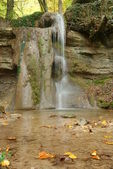 Small waterfall at the autumn — Stock Photo