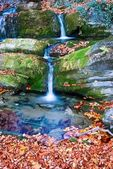 Blue water cascades — Foto de Stock