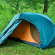 Touristic tent in a forest — Stock Photo #8130299