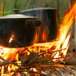 Stock Photo: Tourist camp-fire