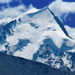 Panorama of snowbound mountain — Stock Photo