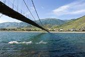Bridge across a river — Stock fotografie