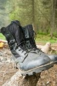 Close-up tourist boots — Stock Photo