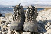 Tourist boots — Stock Photo