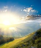 Sunrise in a mountains — Stock Photo