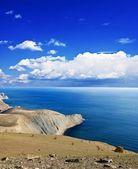 Deniz koyu bir yaz günü tarafından — Stok fotoğraf