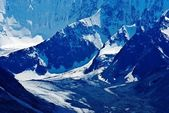 Mountain valley covered by ice — Stock Photo