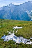 Small puddle in a mountains — Stock Photo