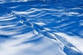 Track on a snow background — Stock Photo