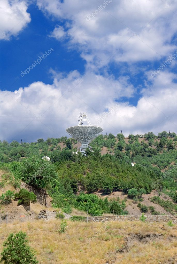 Astronomic telescope  in the mountains  Stock Photo #8130195