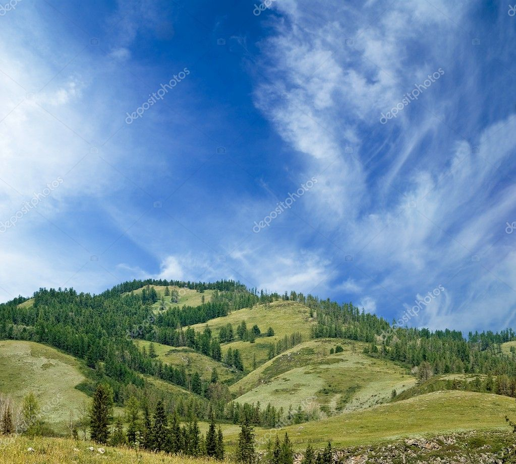Great hills — Stock Photo #8130372
