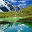 Green lake in a mountains — Stock Photo #8171315