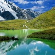 Green lake in a mountains — Stock Photo