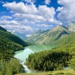 Green lake in mountains — Stock Photo #8173933