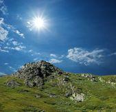 Sun above a mountains — Stock Photo
