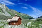 Christian church in a mountains — Stock Photo